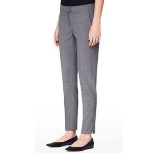 Theory skinny wool trouser ankle cropped suiting